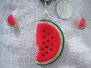 set-accesorii-cercei-pandantiv-handmade-pepene-rosu