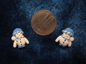 accesorii de iarna-cercei-de-iarna-omuleti-de-zapada-caciulita-lasata-bleu
