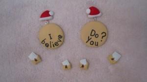 accesorii craciun - cercei i believe in santa - scrisori